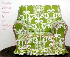 """Tutorial: DIY armchair slipcover--Ever since Trading Spaces, I've wondered how Hildi made her slip covers.  I remember her pinning and pinning....thanks to this wonderful blogger, I know how and I am now ready to cover """"cat Scratch Fever""""....my favorite (and the cat's) chair!"""