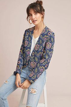 5c7d662d06af Seen Worn Kept Majorelle Embroidered Jacket #ad #AnthroFave #AnthroRegistry  Anthropologie #Anthropologie #