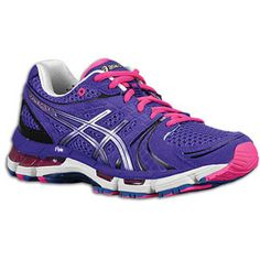I love Asics running shoes but they are often not very pretty. Today, I saw this Kayano18 in purple and I know I have to go back and get it!!