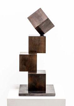 Cube Cross, Stephan Siebers Rock Sculpture, Steel Sculpture, Sculptures, Geometric Sculpture, Abstract Sculpture, Organic Art, Steel Art, Found Object Art, Welding Art