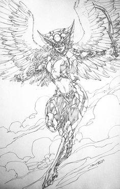 Hawkgirl by Brett Booth