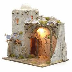 Resultado de imagen para presepe fai da te Christmas Nativity, Christmas Crafts, Clay Houses, Portal, Diy And Crafts, Candle Holders, Candles, Wallpaper, Minecraft