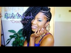 ▶ Side Mohawk PART 2: Crocheting & Cutting Hair - YouTube