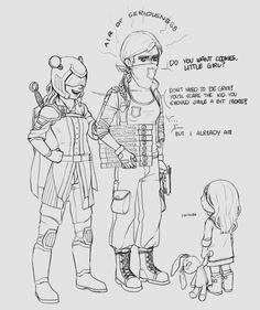 Miss Militia and Mouse Protector meet Taylor [Path to Cuddles] by YunYunHakusho
