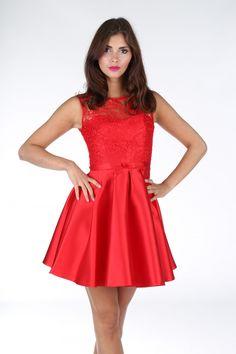 Sukienka koktajlowa rozkloszowana