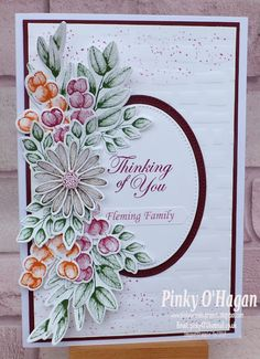 Leaf Cards, The Draw, Stamping Up Cards, Get Well Cards, Fall Cards, Cards For Friends, Creative Cards, Flower Cards, Greeting Cards Handmade