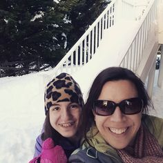 We are two brave explorers off to measure the snow drift on the far side of the yard hopefully to return! #snowzilla by resourcefulmom