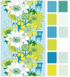 color palette - bright yellow & light blue