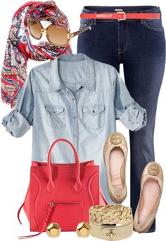 I love a denim shirt with a scarf. Also, denim on denim is worth a try for a classy outfit!