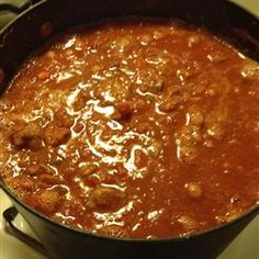 Oktoberfest Chili - A hearty chili with a little kick and a German twist.