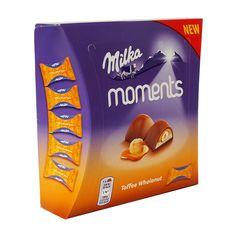 Еще одна новинка от Milka - Moments Toffee Wholenut - мини конфеты с нугой и карамелью вокруг цельного ореха фундук и все покрыто... Toffee, In This Moment, Sticky Toffee, Candy