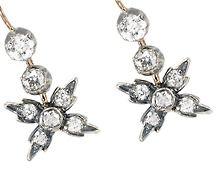 Victorian Old Cut Diamond Earrings