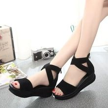 2015 summer nubuck leather wedges women sandals open toe platform shoes soft outsole women's sandals fashion Gladiator shoes     Tag a friend who would love this!     FREE Shipping Worldwide     #Style #Fashion #Clothing    Get it here ---> http://www.alifashionmarket.com/products/2015-summer-nubuck-leather-wedges-women-sandals-open-toe-platform-shoes-soft-outsole-womens-sandals-fashion-gladiator-shoes/