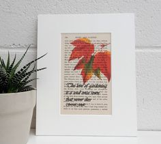 Antique Gardening Book Quote and Botanical Image Print, Gertrude Jekyll Book Print, Vintage Boston Ivy Image Dictionary Print Gardeners Gift by TicketyBooPrints on Etsy