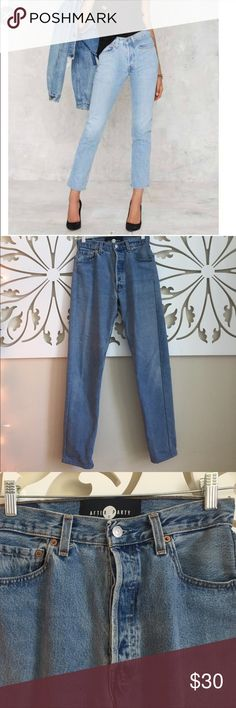 Levi's high rise straight leg by Nasty Gal Levi's 501 light washed high waisted straight leg jeans by Nasty Gal. Nasty Gal Jeans Straight Leg