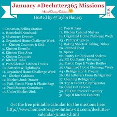 Join the #Declutter365 missions on Instagram and show off what you declutter. Here are your 15 minute missions for January! Follow @taylorflanery to see the missions daily.