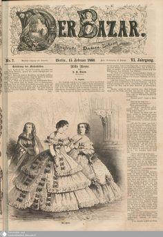 In the Swan's Shadow: Der Bazar, Nov. 1850s Fashion, Victorian Fashion, Vintage Fashion, Victorian Dresses, 1800s Clothing, Civil War Fashion, Fashion Illustration Vintage, Red And Grey, Fashion Plates