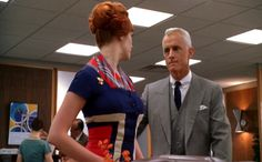 mad men | Mad Men season 1_Christina Hendricks op art dress_side mid.bmp