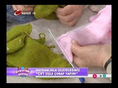 Çift şişle çorap yapımı...deryanın dünyası - YouTube