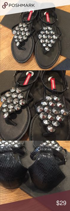 NWOT Union Bay Black Strapped Sandals Never worn. Man made materials. Union Bay Shoes Sandals