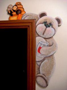 Projeto Arte Madeira Joinville - Urso procurando mel - Tereza Or - Terra Fotolog