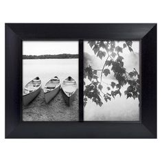 Room Essentials® 2 Opening Picture Frame - Black 5x7  one side memo board, one side wipe-off or white board