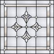 Window Film - decorative-film-by-maryanne.com - Traditional Stained Glass for the upstairs bathroom window