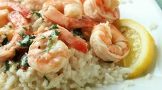 This shrimp dish was something I threw together one night and my family loved it. It's really easy, healthy, and tasty!