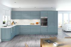 blue gloss kitchen - Google Search
