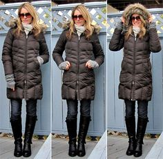 i practically live in my lands' end chevron coat each winter! it's the warmest.