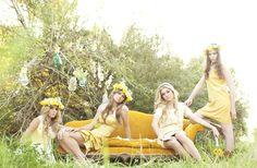 vestido de fiesta amarillo