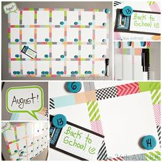 Magnet Washi Tape Calendar by the36thavenue.com - such a cute idea and she makes it look so easy! :)