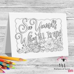 See Yourself When All is New Coloring Printable Note Cards | Etsy Jw Gifts, To Color, See You, Note Cards, Card Stock, Coloring, Bullet Journal, Printables, Notes