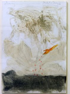 Pieter Laurens Mol. Sowing Pascals Triangle, 2012, mixed media on paper