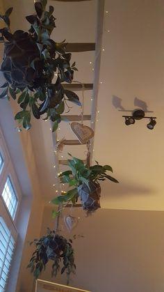 Decoratie ladder aan het plafond