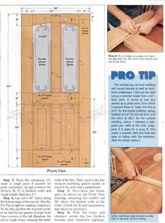 Entry Door Plans - Door Construction and Techniques - Woodwork, Woodworking, Woodworking Plans, Woodworking Projects Woodworking Outdoor Furniture, Woodworking Projects Diy, Woodworking Techniques, Popular Woodworking, Woodworking Plans, Wood Projects, Arched Doors, Entry Doors, Front Doors