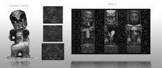 ArtStation - Marae Carving Design, Jared Wikeepa