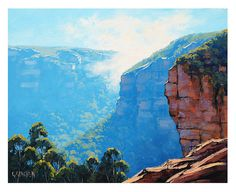 ORIGINAL PAINTINGS Blue Mountains Australia by GerckenGallery, $198.00