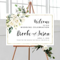#weddingwelcomesign #welcomeweddingsign #welcomesign #weddingsign #wedding #weddingsigns #floralwelcomesign #weddingdécor #weddingposter #weddingreception #printable #sign #signs #whitewedding #whiteroses #gold #printable #printables #diywedding #template
