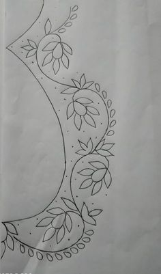 Saree Embroidery Design, Hand Embroidery Design Patterns, Simple Embroidery Designs, Hand Embroidery Videos, Hand Embroidery Tutorial, Hand Work Embroidery, Embroidery Techniques, Hand Embroidery Stitches, Work Blouse