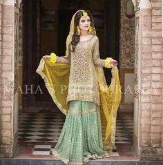 Atif Riaz Net Dresses - Embroidered Chiffon Dupatta - Replica - Unstit – 2020 Online Shopping in Pakistan - diKHAWA Fashion Pakistani Wedding Outfits, Pakistani Wedding Dresses, Pakistani Dress Design, Bridal Outfits, Pakistani Mehndi Dress, Asian Wedding Dress, Bridal Mehndi Dresses, Walima Dress, Shadi Dresses