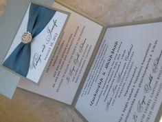 2 Language Rhinestone invitation See more custom-made invitations & favors at wrappedupindetails.com