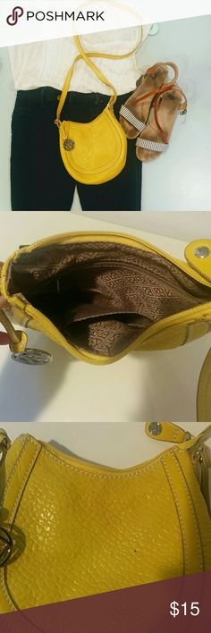 Relic Yellow Summer Purse Lightweight crossbody bag. One tiny ink spot, as pictured in 3rd image. Relic Bags