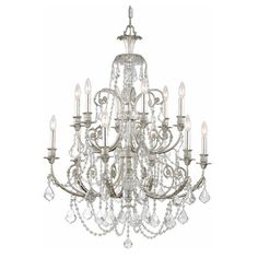 Crystorama 5119-OS-CL-MWP Riley Hand Polished Crystal Chandelier - 5119-OS-CL-MWP