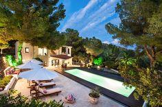 Ibiza Villa Interior Modern Chic Home rent real estate