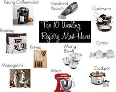 Top 10 Wedding Registry Must-Haves