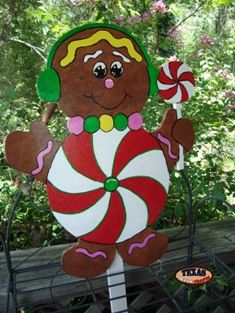 gingerbread boy yard art