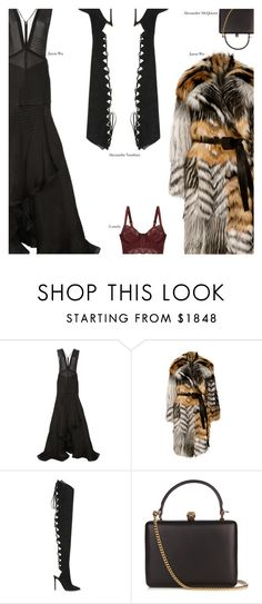 """Untitled #3639"" by amberelb ❤ liked on Polyvore featuring Jason Wu, Alexandre Vauthier, Alexander McQueen and Lonely"