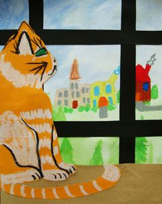 Activities: Layered Art:  paint a landscape, add a window frame, place a table or wide sill informt of window, create something for the table top!