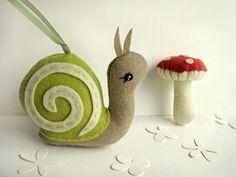 little snail ornament